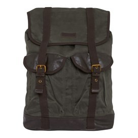 Anton Waxed Canvas Back Pack Onyx