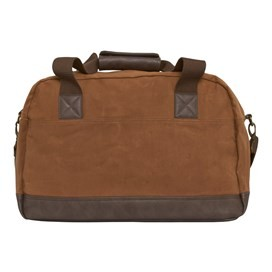 Victor Waxed Canvas Holdall Bag Dark Tan