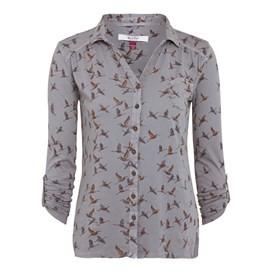 Agua Bird Print Jersey Shirt Ash Grey
