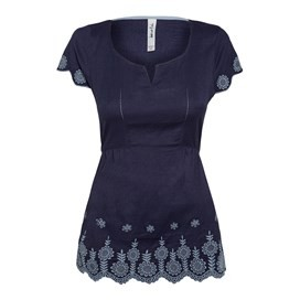 Bosun Embroidered Tunic Top Navy