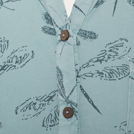 Cavos Dragonfly Print Jersey Shirt Faded Denim