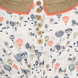 Hidalgo Printed Tunic Dress Ecru