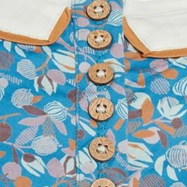 Hidalgo Printed Tunic Dress Vivid Blue