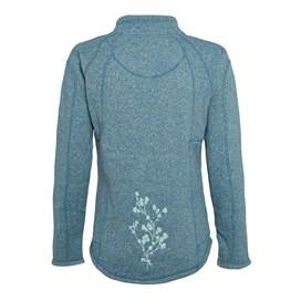 Creel 1/4 Zip Embroidered Back Soft Knit Blue Surf