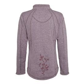 Creel 1/4 Zip Embroidered Back Soft Knit Pale Violet