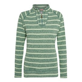 Leckhampton 1/4 Zip Striped Soft Knit Seapine