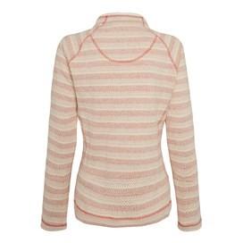 Jala Full Zip Blended Stripe Soft Knit Burnt Orange