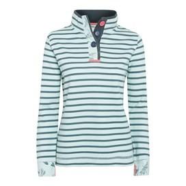 Costa Striped Pique Sweatshirt Mint Green