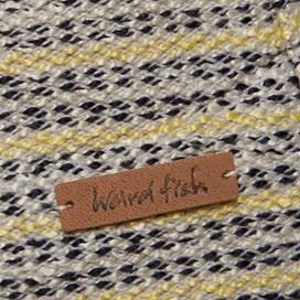 Catorce 1/4 Zip Knitted Stripe Jumper Lemon