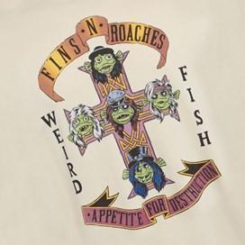 Fins N Roaches Front Print Artist T-Shirt Oyster