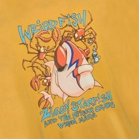 Ziggy Starfish Back Print Artist T-Shirt Deep Amber