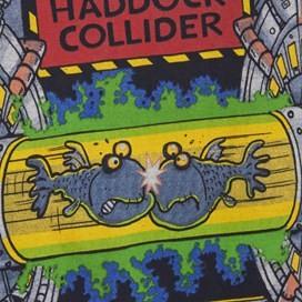 Haddock Collider Back Print Artist T-Shirt Dark Navy