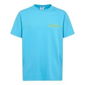 Haddock Collider Back Print Artist T-Shirt Cyan