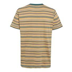 Aire Jacquard Striped T-Shirt Deep Amber