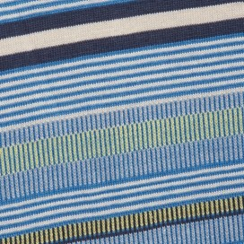 Aire Jacquard Striped T-Shirt Primary Blue