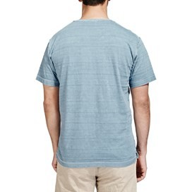 Dwell Textured Stripe T-Shirt Airforce Blue