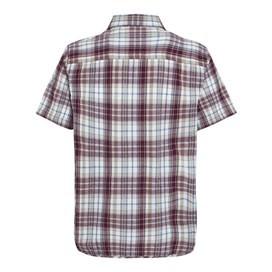 Belaya Short Sleeve Seersucker Shirt Taupe Grey