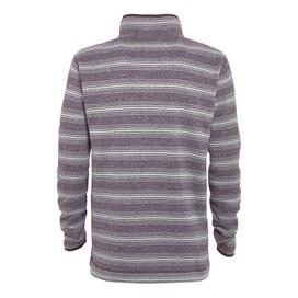 Storm 1/4 Zip Striped Soft Knit Fleece Storm Grey