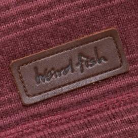 Storm 1/4 Zip Striped Soft Knit Fleece Pinot Red