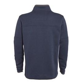 Taff Full Zip Bonded Soft Knit Jacket Dark Navy
