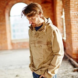Para Overhead Cotton Cagoule Jacket Taupe Grey
