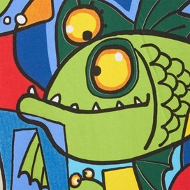 Fishcasso Boy's Artist T-Shirt Oyster