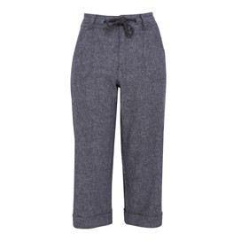 Alana Denim Linen 3/4 Pant Light Denim