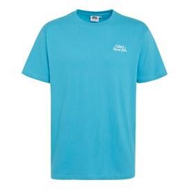Bones Classic Embroidered T-Shirt Cyan