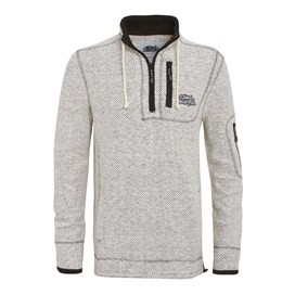 Parkway 1/4 Zip Deluxe Tech Macaroni Sweatshirt Ecru