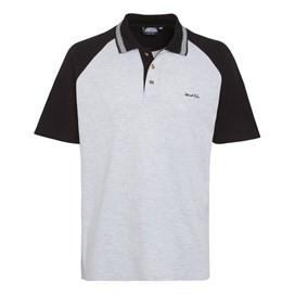 Khalifa Contrast Polo Shirt Pale Silver