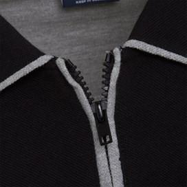 Marina 1/4 Zip Polo Shirt Black