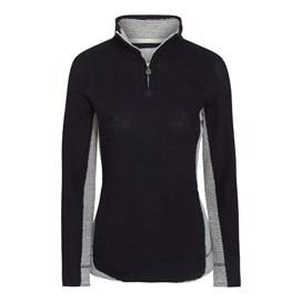 Emmie Colourblock 1/4 Zip Mac Active Macaroni Sweatshirt Navy