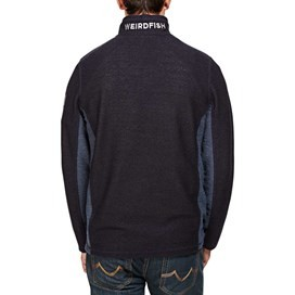 Siren Panelled 1/4 Zip Mac Active Macaroni Sweatshirt Navy