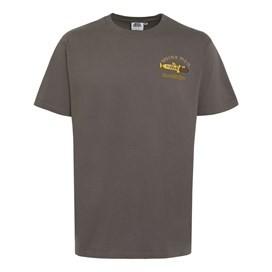 Chocolate Hake Artist T-Shirt Dark Gull Grey