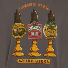 Weird Beers Artist T-Shirt Charcoal
