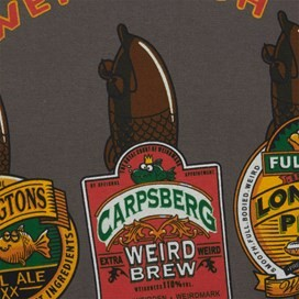 Weird Beers Artist T-Shirt Dark Gull Grey