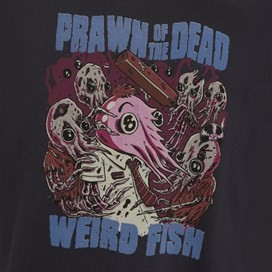 Prawn Of The Dead Artist T-Shirt Charcoal