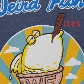 Ice Bream Cone Artist T-Shirt Blue Mirage