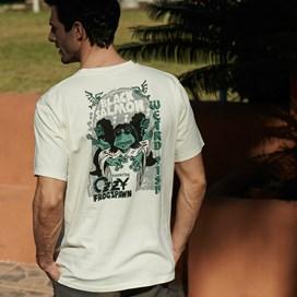 Black Salmon Artist T-Shirt Charcoal