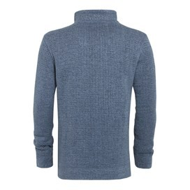 Thomas ¼ Zip Fleece Blue Mirage