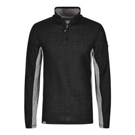 Siren 1/4 Zip Panelled Mac Active Macaroni Sweatshirt Black