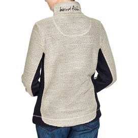 Emmie Colourblock 1/4 Zip Mac Active Macaroni Sweatshirt Ecru
