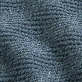 Paulo Tiger Stripe ¼ Button Macaroni Sweatshirt Blue Mirage