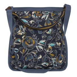 Hermitage All Over Print Canvas Shopper Bag Dark Navy
