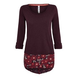 Isala Long Length T-Shirt Boysenberry