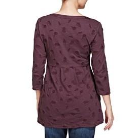 Helma Embroidered Slub Tunic Top Boysenberry