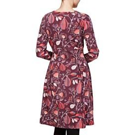 Drobak Printed Woven Dress with Cross Over Neckline Lavender
