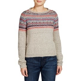 Berta Fair Isle Patterned Jumper Pebble