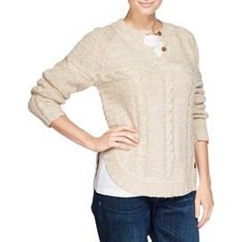 Hanka Knitted Cable Chunky Jumper Pebble