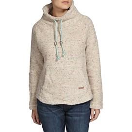 Roskilde Funnel Neck Knitted Fleece Top Ecru